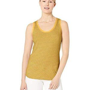 Adriano Goldschmied Yellow and Black Stripe Tank